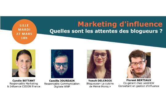 27 mars – Marketing d'influence : quelles sont les attentes des blogueurs ?