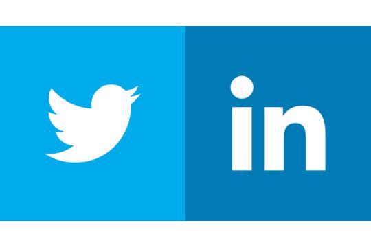 linkedin twitter place de la communication
