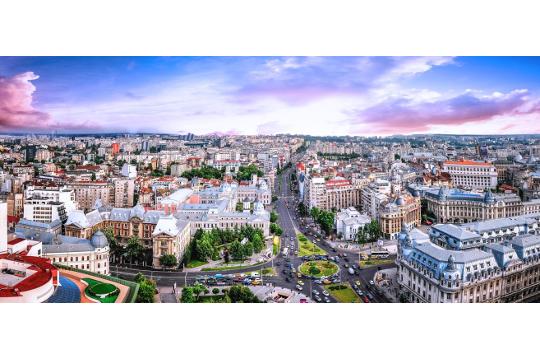 Voyage d'etude Bucarest - Place de la Communication