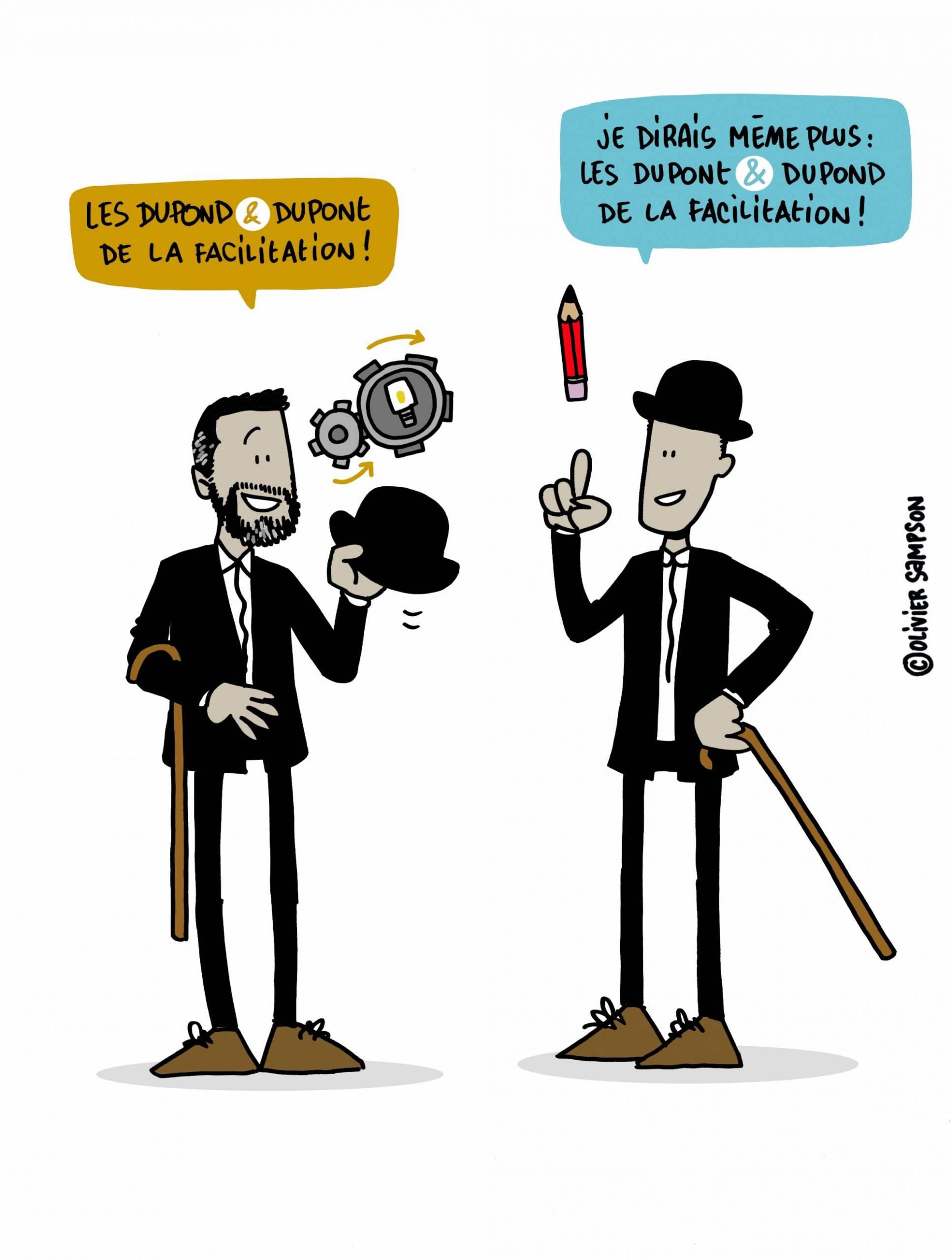Dessin Olivier Dupond & Dupont